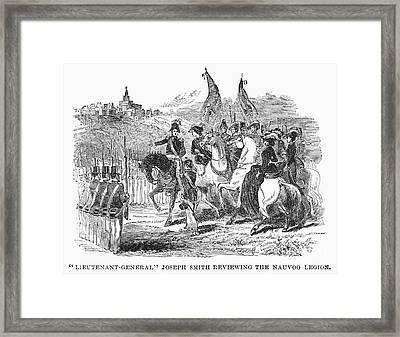 Mormons At Nauvoo, 1840s Framed Print by Granger