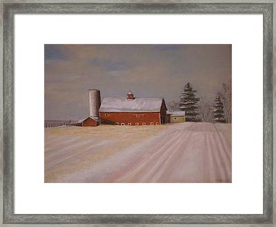 Morning After Heavy Snow Framed Print by Mark Haley