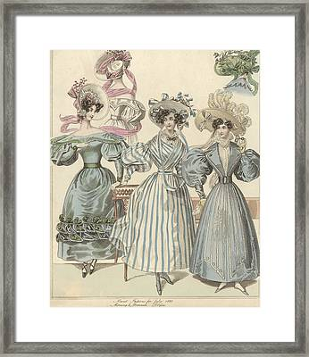 Morning And Promenade Framed Print by Hulton Archive