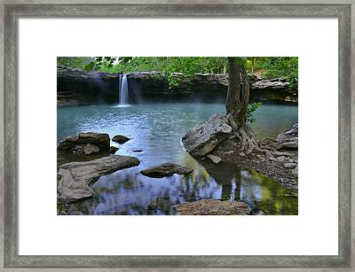 Morning At Falling Water Falls Framed Print by Jeff Rose