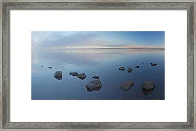 Morning At Lewis Lake Framed Print by Twenty Two North Photography