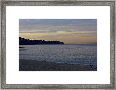 Morning At The Beach Framed Print