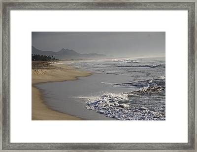 Morning Beach Framed Print