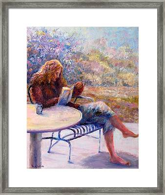 Morning Book Framed Print