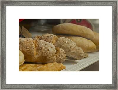 Morning Bread Framed Print by William  Carson Jr