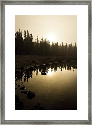 Framed Print featuring the photograph Morning Calm by Randy Wood