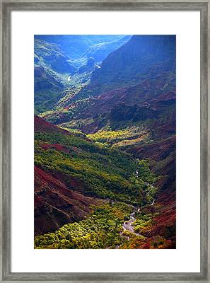 Morning Waimea Canyon Framed Print