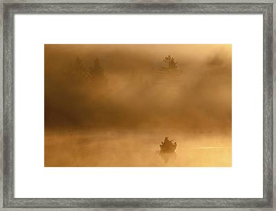 Morning Catch Framed Print by Joseph Rossbach