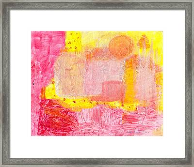 Framed Print featuring the painting Morning Cityscape by Lou Belcher
