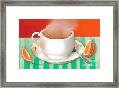 Morning Coffee Framed Print by Dessie Durham