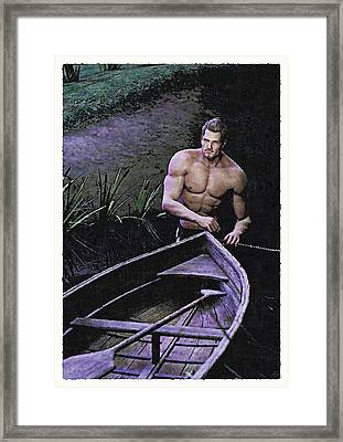 Framed Print featuring the painting Morning Crossing by Maynard Ellis