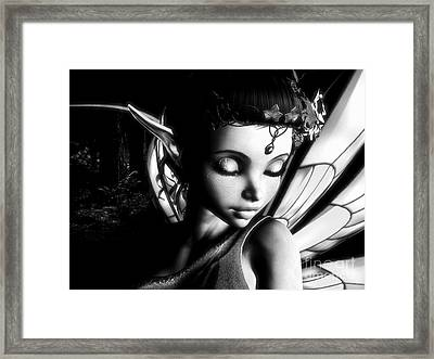 Morning Fairy Bw Framed Print by Alexander Butler