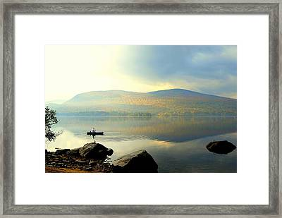 Morning Fisherman Framed Print by Marie Fortin