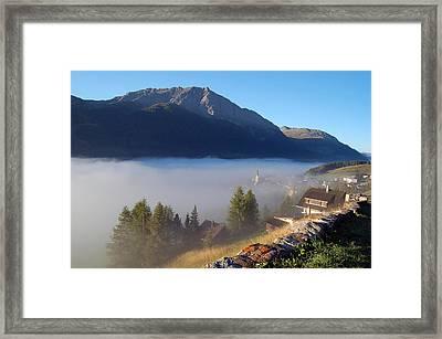 Morning Fog Framed Print by @ Upsa-daisy