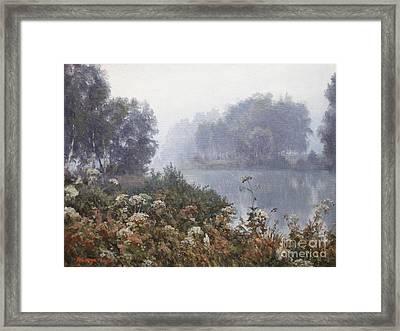 Morning Fog Framed Print by Andrey Soldatenko