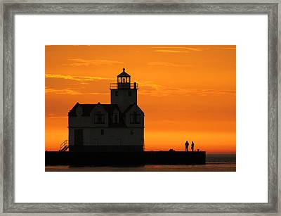 Morning Friends Framed Print by Bill Pevlor