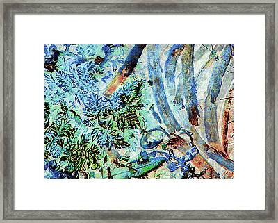 Framed Print featuring the photograph Morning Frost On Engelmann Daisies And Mesquite Beans by Louis Nugent