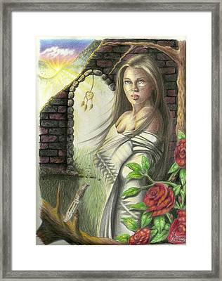 Morning Girl Framed Print by Jr Sanderson