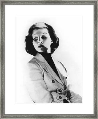 Morning Glory, Katharine Hepburn, 1933 Framed Print by Everett
