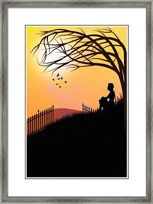 Framed Print featuring the digital art Morning Glory by Mary Morawska