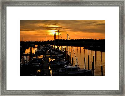Framed Print featuring the photograph Morning Glow by Brian Hughes