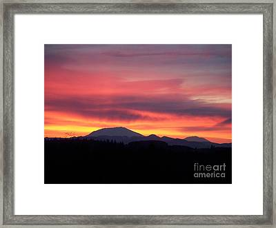 Framed Print featuring the photograph Morning Glow by Chalet Roome-Rigdon