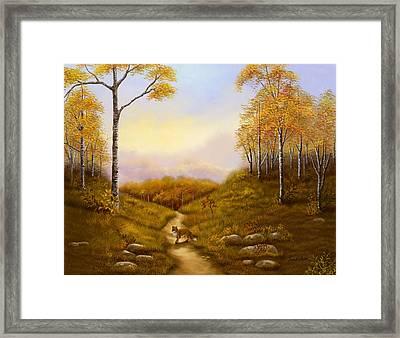 Morning Hunt Framed Print by Sena Wilson