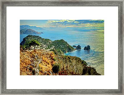 Morning In Capri Framed Print by Andre Salvador