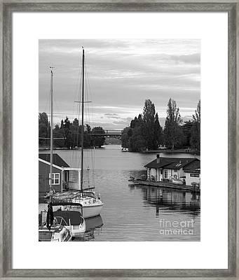 Morning In Montlake Framed Print