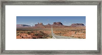 Morning In Monument Valley Framed Print by Sandra Bronstein