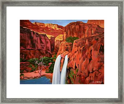 Morning In The Canyon Framed Print