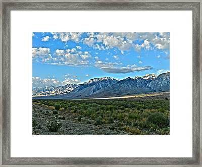 Morning In The Eastern Sierras Framed Print