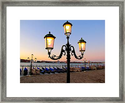 Morning In Venice Framed Print by Barbara Walsh