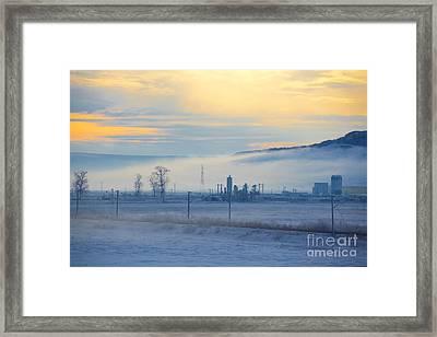Morning Landscape In Winter Framed Print by Gabriela Insuratelu