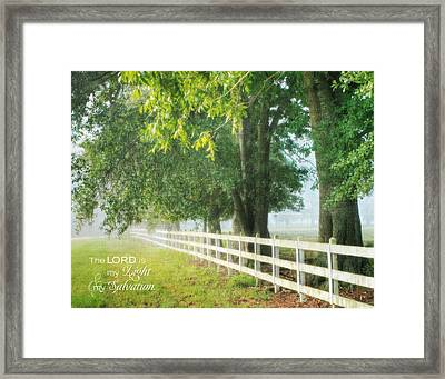 Framed Print featuring the photograph Morning Light - Hdr by Mary Hershberger