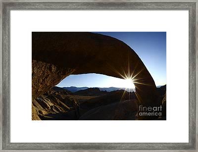 Morning Light Alabama Hills Framed Print