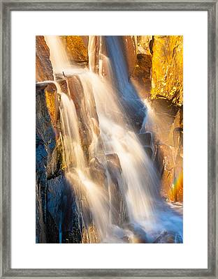 Morning Light On Lower Falls Framed Print by Marc Crumpler