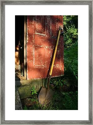 Morning Light On The Door Of An Old Framed Print by Stephen St. John