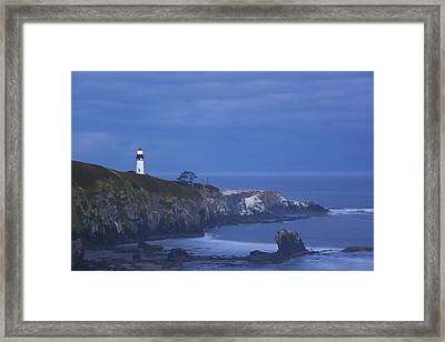 Morning Light Over Yaquina Head Framed Print by Craig Tuttle