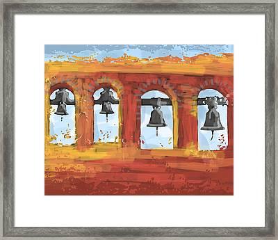 Morning Mission Bells Framed Print