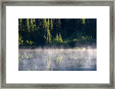 Morning Mist Framed Print by Mike  Dawson