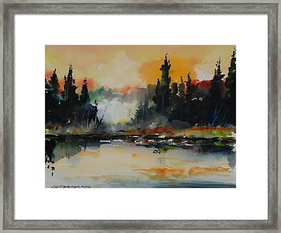 Morning Mists Rising Framed Print