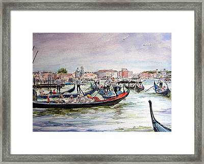 Morning On Grand Canal Framed Print