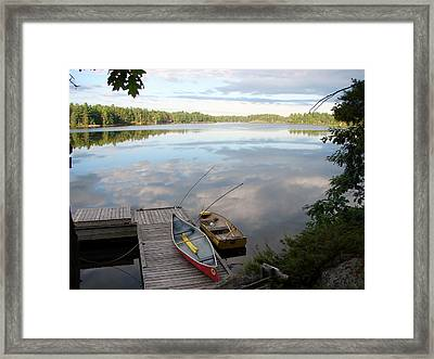 Morning On Pine Lake 1 Framed Print