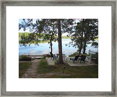 Morning On Pine Lake 2 Framed Print