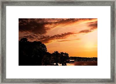 Morning On The Bayou Framed Print by Barry Jones