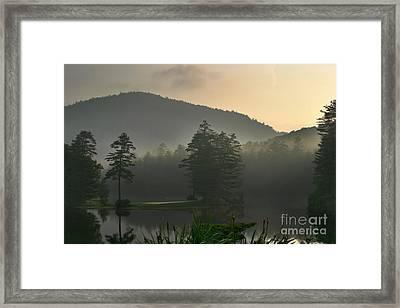 Morning On The Lake Framed Print by Matt Tilghman