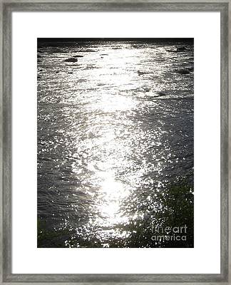 Framed Print featuring the photograph Morning On The River by Nancy Dole McGuigan