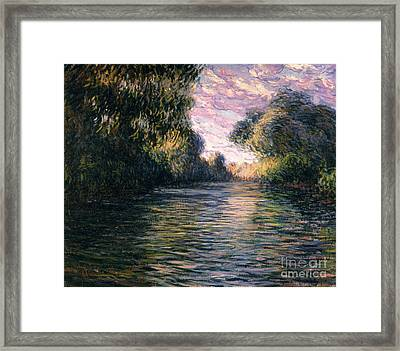 Morning On The Seine Framed Print by Claude Monet
