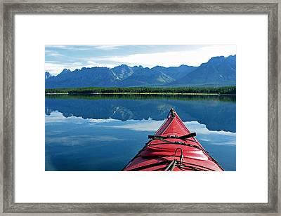 Morning Paddle Framed Print by Gerry Bates